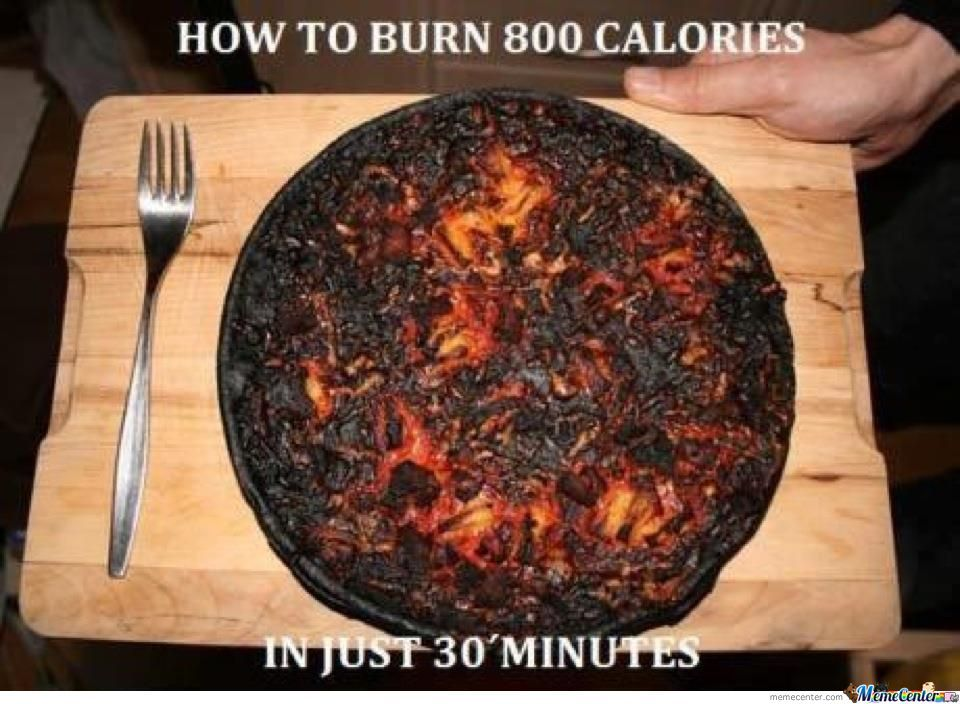 Funny Meme About Burning Calories
